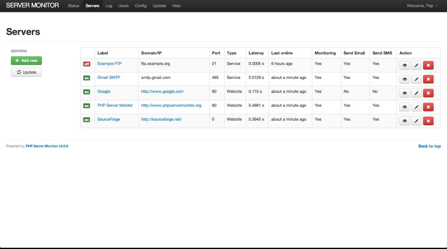 PHP Server Monitor | Open source tool to monitor your servers and
